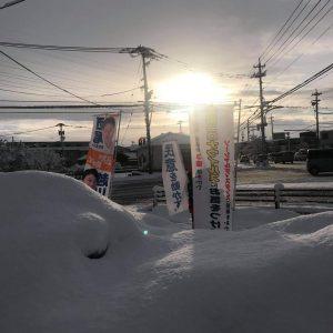 激しい雪模様